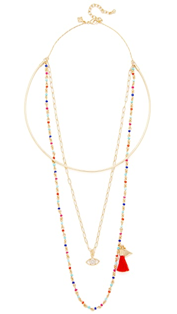 Rebecca Minkoff Layered Seed Bead Collar Necklace