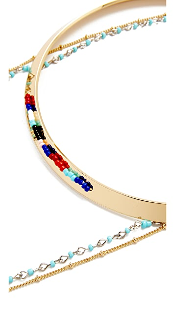 Rebecca Minkoff Louisa Layered Collar Necklace