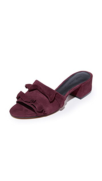 Rebecca Minkoff Isabelle Suede City Mules - Acai