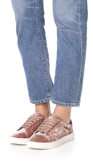 Rebecca Minkoff Bleecker Too Velvet Sneakers