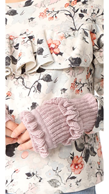 Rebecca Minkoff Ruffle Fingerless Gloves