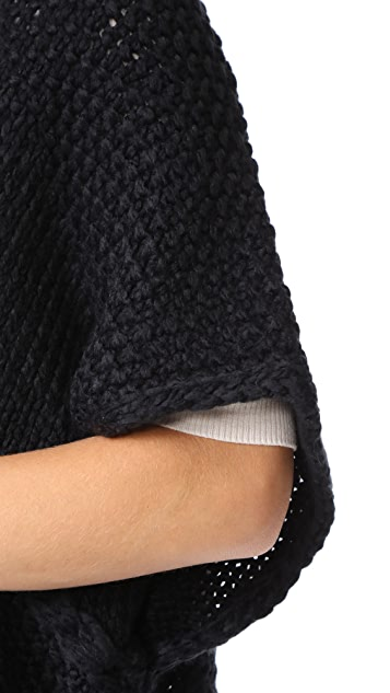 Rebecca Minkoff Knit Poncho with Loops