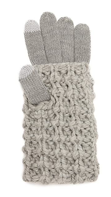 Rebecca Minkoff Перчатки Tuck из толстого трикотажа
