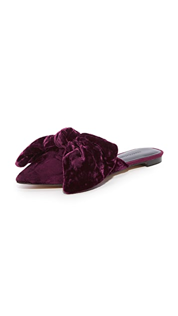 Rebecca Minkoff Alexis Bow Mule Slippers
