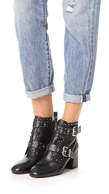 Rebecca Minkoff Logan Studded Buckle Booties