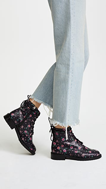 Rebecca Minkoff Gerry Embroidered Leather Booties 4YduDWjxe
