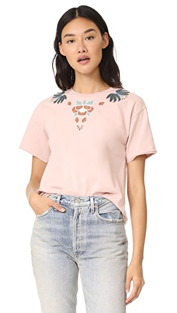 Rebecca Minkoff Ronnie Tee with Embroidery