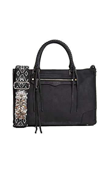 Rebecca Minkoff Regan Satchel with Crystals
