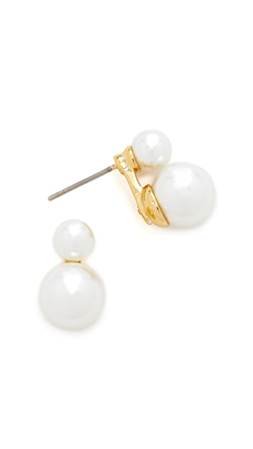 Rebecca Minkoff Double Sphere Stud Earrings