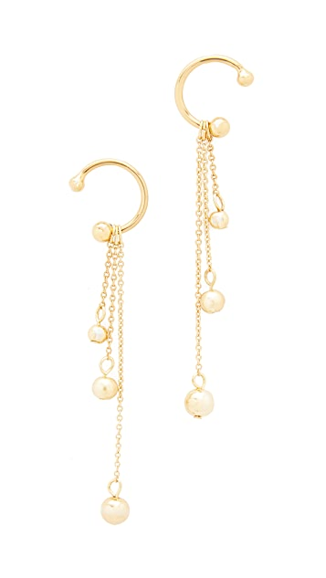 Rebecca Minkoff Linear Triple Drop Sphere Earrings