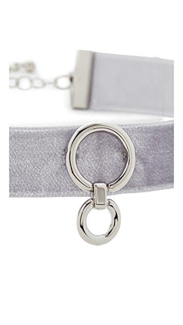 Rebecca Minkoff Velvet Ring Choker Necklace