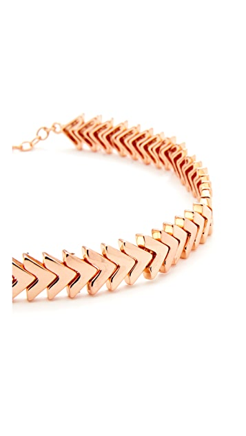 Rebecca Minkoff Chevron Stretch Choker Necklace