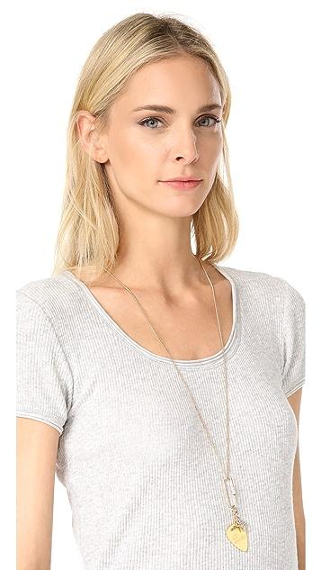 Rebecca Minkoff Love Guitar Pick Pendant Necklace
