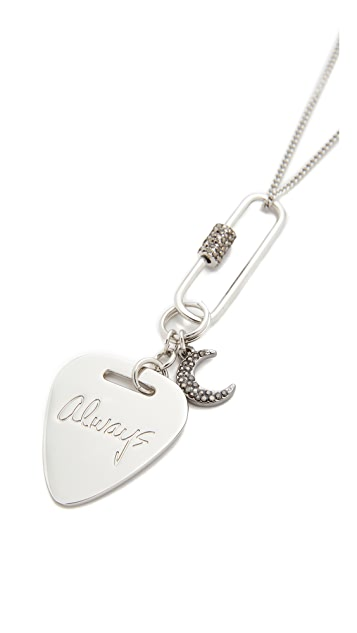 Rebecca Minkoff Always Guitar Pick Necklace
