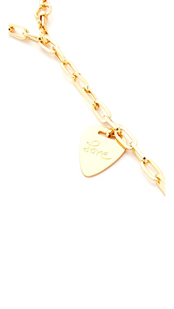 Rebecca Minkoff Love Guitar Pick Lariat Necklace