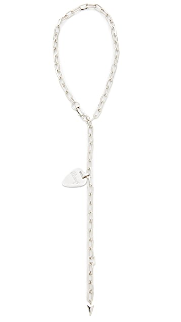 Rebecca Minkoff Always Guitar Pick Toggle Necklace