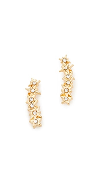 Rebecca Minkoff Stargazing Ear Crawler Earrings