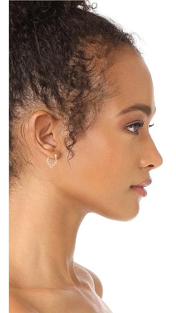 Rebecca Minkoff Stargazing Mini Hoop Earrings