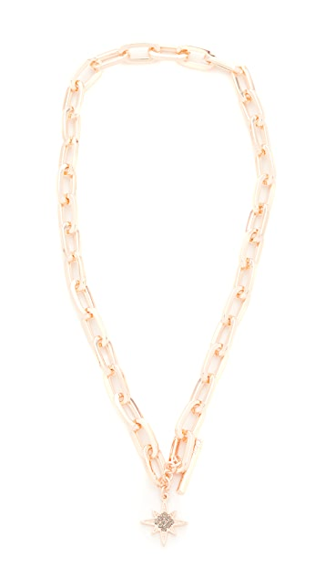 Rebecca Minkoff Signature Link Star Charm Necklace
