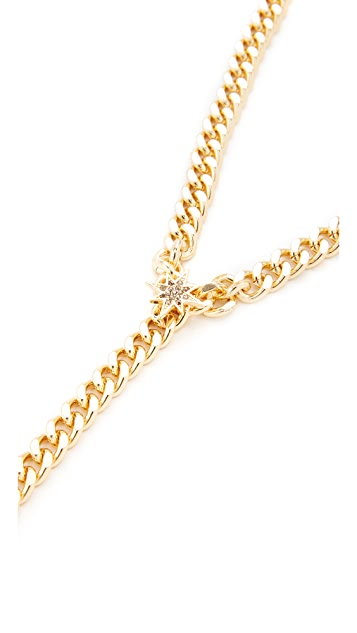 Rebecca Minkoff Stargazing Chain Lariat Necklace