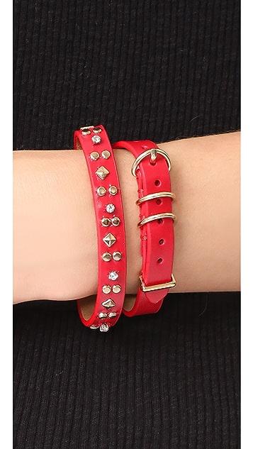 Rebecca Minkoff Studded Double Wrap Bracelet