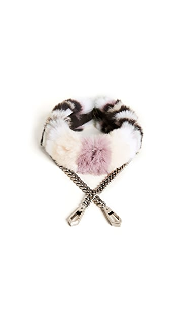 Rebecca Minkoff Fur Cross Body Strap with Chain