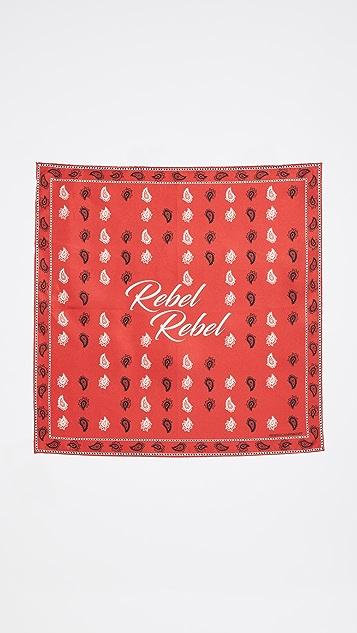 Rebecca Minkoff Rebel Vertical Paisley Bandana