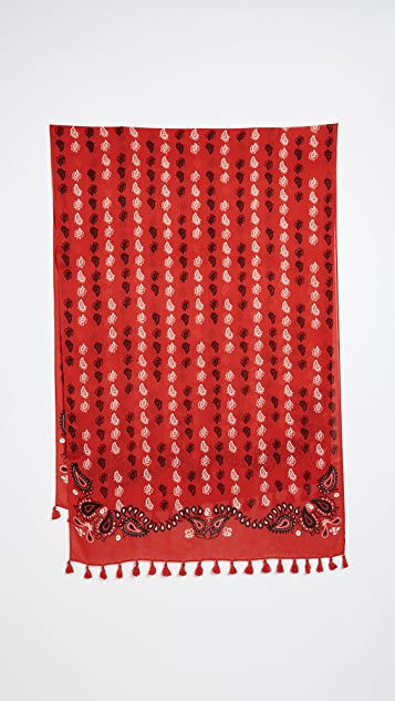 Rebecca Minkoff Vertical Paisley Oblong Scarf