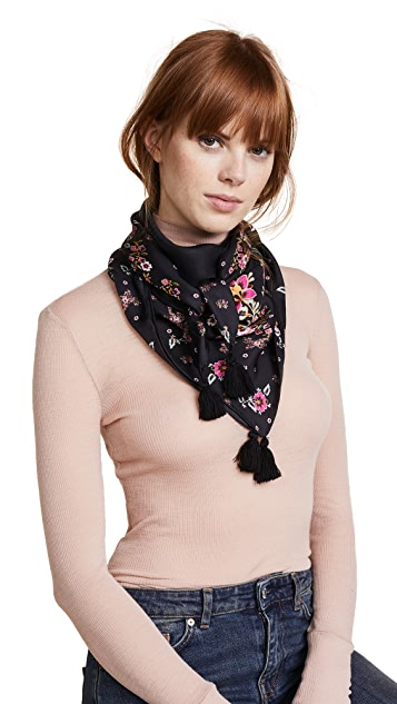 Rebecca Minkoff Mixed Floral Square Scarf