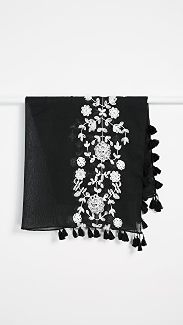 Rebecca Minkoff Vintage Embroidery Square Scarf