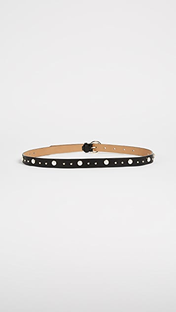 Rebecca Minkoff Coco Smooth Imitation Pearl & Stud Belt