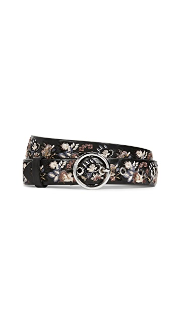 Rebecca Minkoff Lea Floral Embroidery Belt