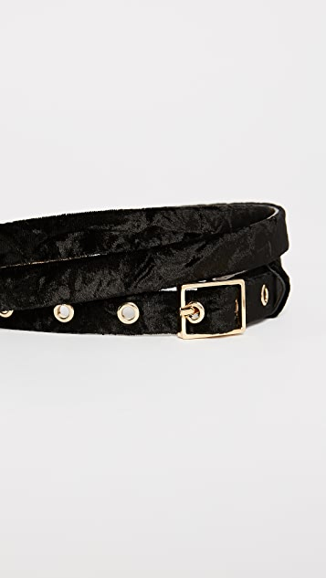 Rebecca Minkoff Liv Velvet Double Wrap Belt