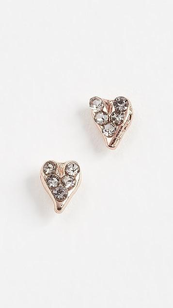 Rebecca Minkoff Baby Heart Stud Earrings