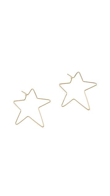 Rebecca Minkoff Rock Star Hoop Earrings