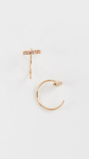 Rebecca Minkoff Bar Threader Hoop Earrings