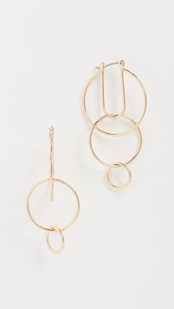 Rebecca Minkoff Celestial Hoop Earrings