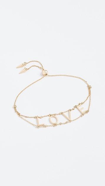 Rebecca Minkoff Love Pulley Bracelet