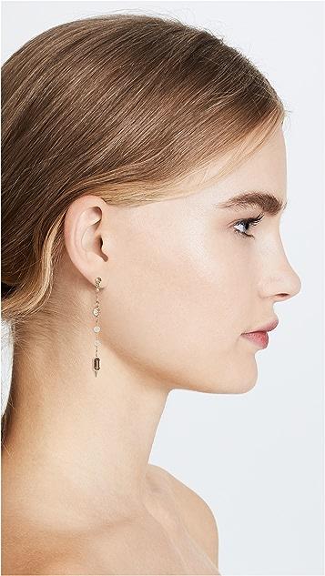 Rebecca Minkoff Linear Imitation Pearl &  Stone Earrings