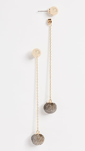 Rebecca Minkoff High Shine Pom Pom Earrings