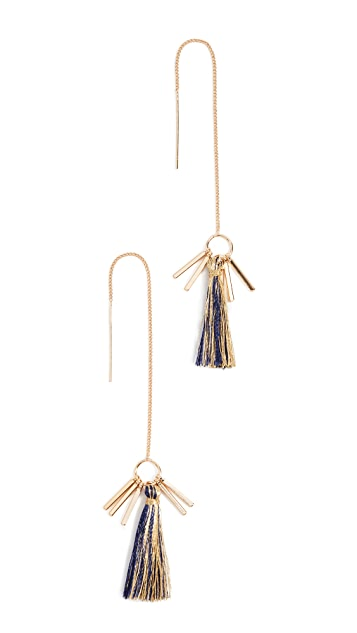 Rebecca Minkoff Morocco Tassel Threader Earrings