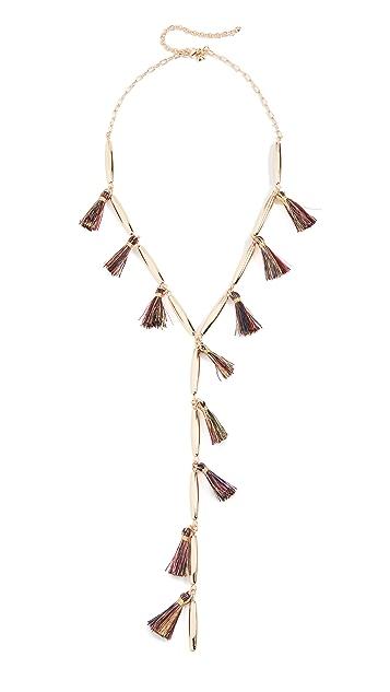 Rebecca Minkoff Multi Tassel Y-Necklace