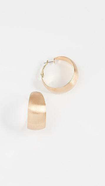Rebecca Minkoff Wide Textured Hoop Earrings