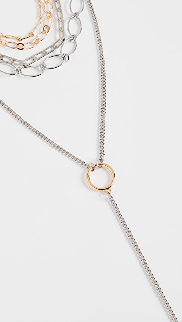 Rebecca Minkoff Layered Chains Necklace
