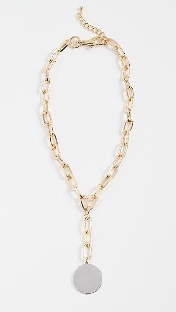 Rebecca Minkoff Signature Chain Stone Medallion Necklace