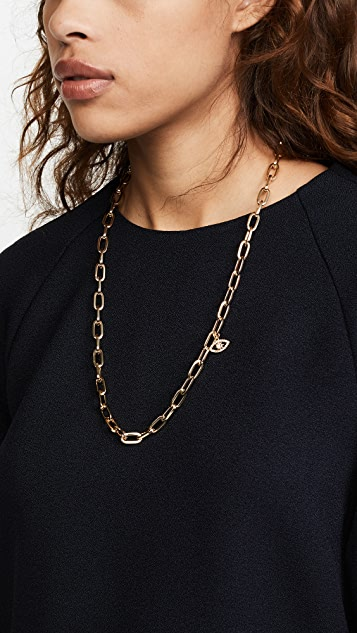 Rebecca Minkoff Signature Chain Evil Eye Necklace