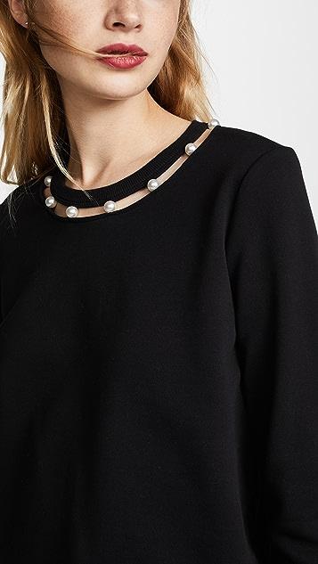 Rebecca Minkoff Open Neckline Sweatshirt