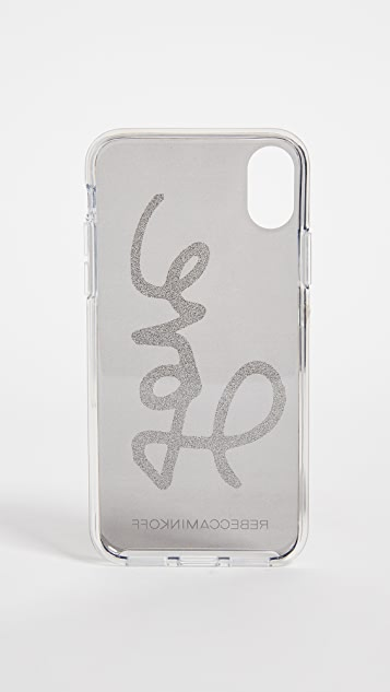 Rebecca Minkoff Glitter Love iPhone X Case