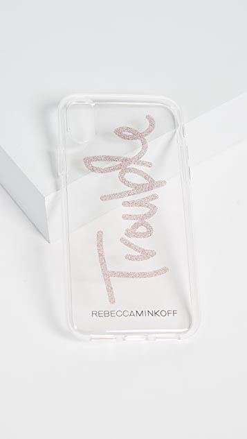 Rebecca Minkoff Glitter Trouble iPhone X Case