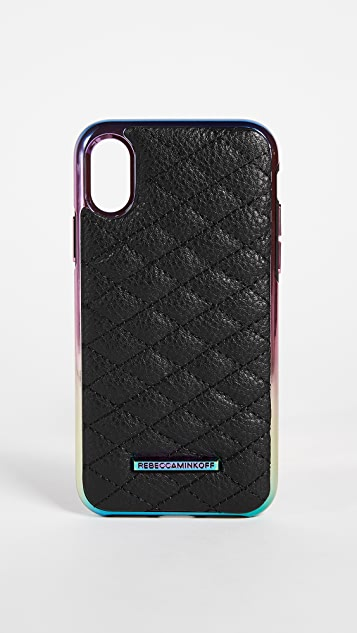 Rebecca Minkoff Quilted Love Oil Slick iPhone X Case ...